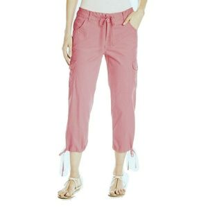 Caribbean Joe Shorts - Caribbean JoeTie-Leg Cargo Capris Pink Women